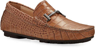 Bugatchi Roma Mock-Croc Leather Drivers