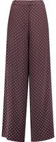 Zimmermann Karmic Polka-Dot Silk Wide-Leg Pants