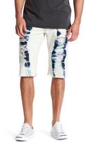 True Religion Flap Pocket Bleach Shorts