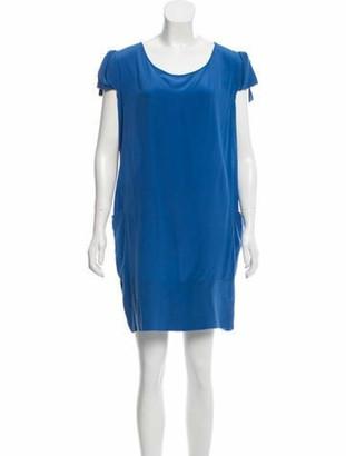 Stella McCartney Silk Mini Dress Blue