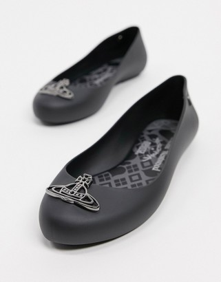 Melissa orb flat shoes in black