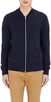 Maison Margiela Men's Leather-Elbow Patch Sweatshirt-NAVY
