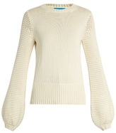 MiH Jeans Lova blouson-sleeve cotton sweater
