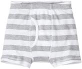 Hanna Andersson Heather Gray & White Stripe Organic Cotton Boxer Briefs
