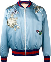 Gucci embroidered bomber jacket - men - Silk - 50