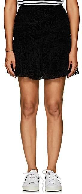 A.L.C. Women's Corey Leopard-Flocked Tulle Skirt - Black