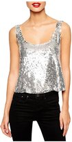 Partiss Women's Summer Sequins Sleeveless Fashion Camisole Tank Vest Top