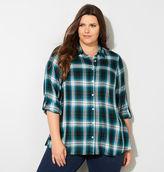 Avenue Yarn Dyed Plaid A-line Shirt