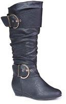 Twisted Women's Tara Wide Calf Wedge Fashion Boot - , Size 7