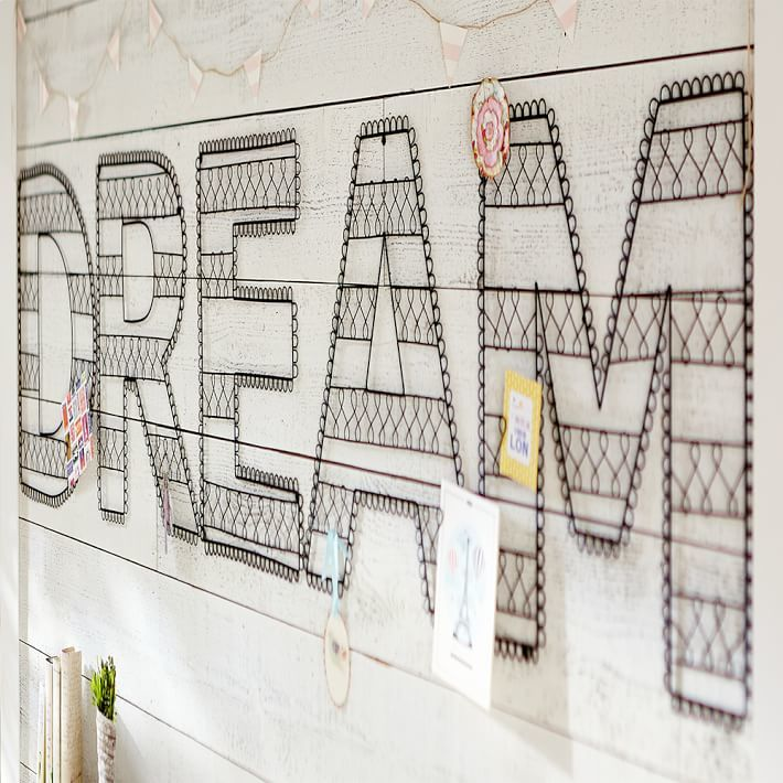 PBteen Wire Wall Letters