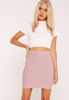 Missguided Bandage Bodycon Mini Skirt Purple