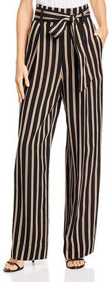 7 For All Mankind Striped Wide-Leg Pants