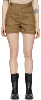 Chloé Brown Denim Shorts