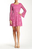 Alexia Admor Bell Sleeve A-Line Lace Dress