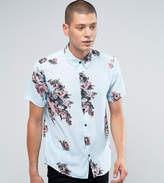 Reclaimed Vintage Inspired Shirt In Floral Print With Short Sleeves In Reg Fit