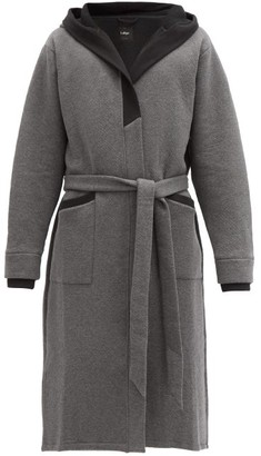 Lahgo - Restore Hooded Cotton-blend Jersey Robe - Dark Grey
