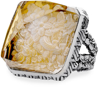Stephen Dweck Crystal Square-Pyramid Ring, Size 7