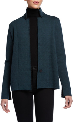 Chiara Boni M Ferebee Wool Jacquard Jacket