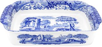 Spode Blue Italian Rectangular Handled Dish