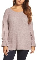 Lucky Brand Plus Size Women's Tie Sleeve Top