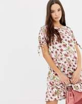 Vila Floral Floral Printed Frill Hem Dress