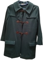 Sessun Green Wool Coat for Women
