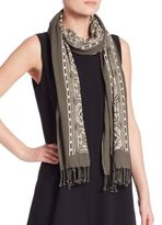 Eileen Fisher Organic Cotton Embroidered Scarf