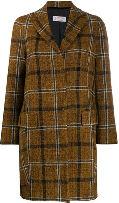Alberto Biani Single-Breasted Plaid Coat