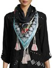 johnny was fiesta silk georgette scarf multi