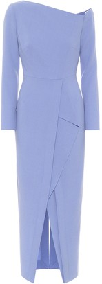 Roland Mouret Trevi wool crepe midi dress