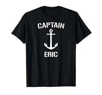 Nautical Captain Eric Personalized Boat Anchor T-Shirt