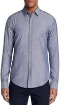 BOSS Robbie Jacquard Pattern Regular Fit Button-Down Shirt