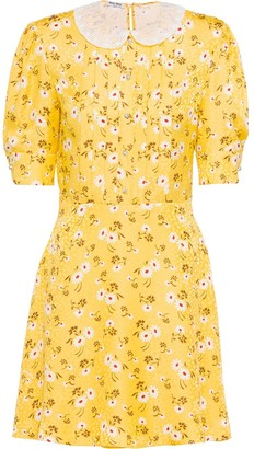 Miu Miu Daisy Bouquet flared dress