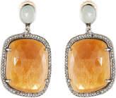 Bavna Sapphire & Sandstone Drop Earrings