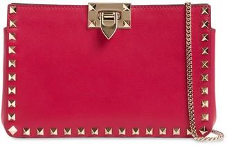 Valentino Rockstud Smooth Leather Clutch