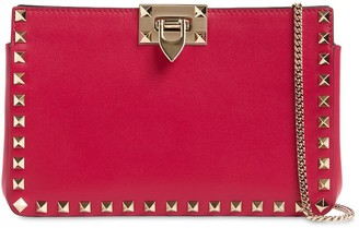 Valentino ROCKSTUD SMOOTH LEATHER CLUTCH