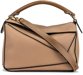 Loewe Puzzle Small Bag in Sand & Mink Color | FWRD