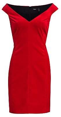 Theory Women's Off-the-Shoulder Sheath Dress