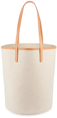 Mansur Gavriel Canvas Circle Bucket Bag - Beige