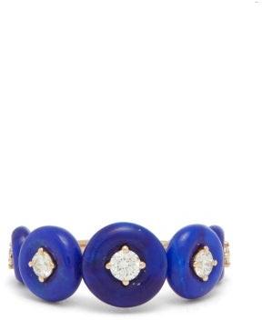Fernando Jorge Surrounding 18kt Rose-gold, Diamond & Lapis Ring - Blue