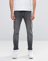 Lee Jeans Luke Stretch Skinny Fit Black Lead Washed Out