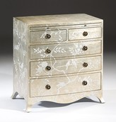 The Well Appointed House Five Drawer Chest with Floral and Bird Design