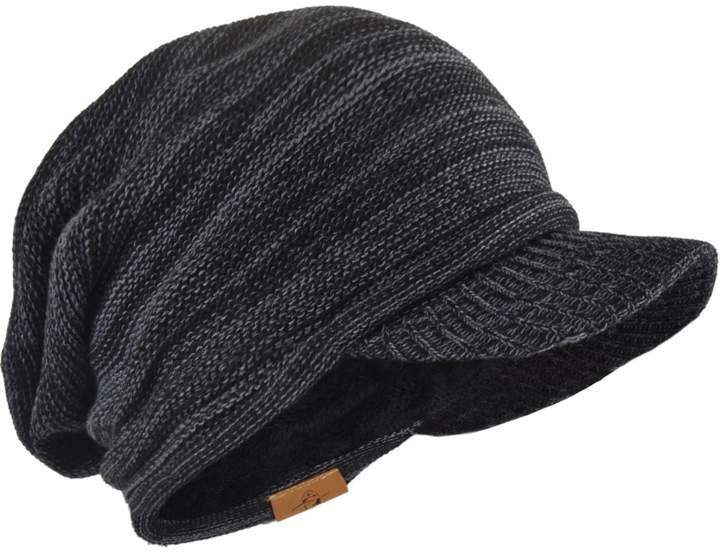 be05495b5 FORBUSITE Knit Visor Beanie Winter Hats for Men Burgundy B319