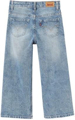 Levi's Girls Flared Crop Jeans - Indigo
