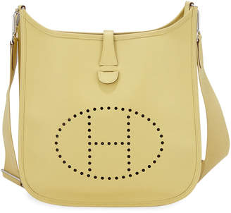 Hermes Evelyne Leather Crossbody Bag, Yellow