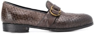 Lidfort Canguro woven loafers