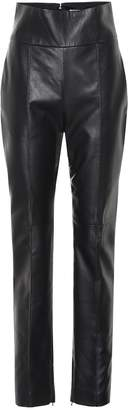 Alexandre Vauthier High-rise straight leather pants