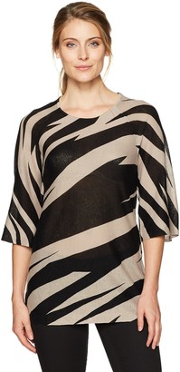Kasper Women's Pullover Printed Sweater