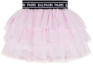Balmain Kids Logo Tutu Skirt (4-16 Years)