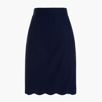 J.Crew Scalloped pencil skirt